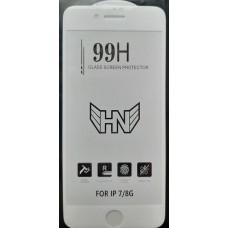 Защитное стекло iPhone 6/6s Premium 99H с БЕЛОЙ рамкой