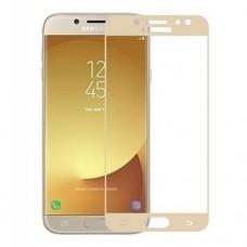 Защитное стекло Samsung J330 / J3 2017 Full glue с ЧЕРНОЙ рамкой