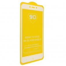 Защитное стекло Xiaomi Redmi 5 Plus Full glue с БЕЛОЙ рамкой